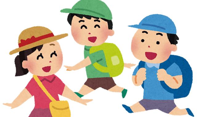 月に一度、屋外活動(自然観察・社会見学・スポーツ等)に取組みます。