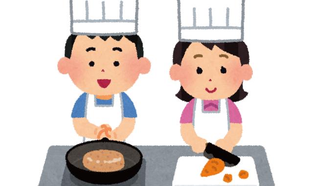 月に一度、健全な食生活を育む調理活動に取組みます。